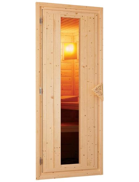 WOODFEELING Sauna »Leona«, mit Ofen, integrierte Steuerung
