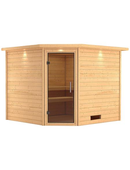 WOODFEELING Sauna »Leona«, ohne Ofen