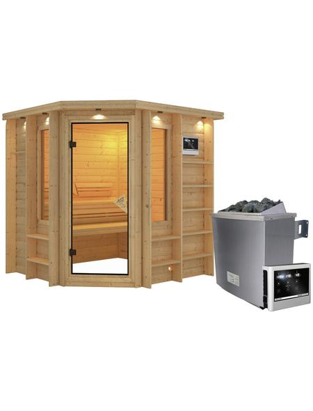 KARIBU Sauna »Libau«, mit Ofen, externe Steuerung