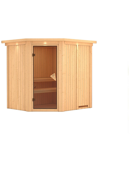 KARIBU Sauna »Maardu«, für 3 Personen ohne Ofen