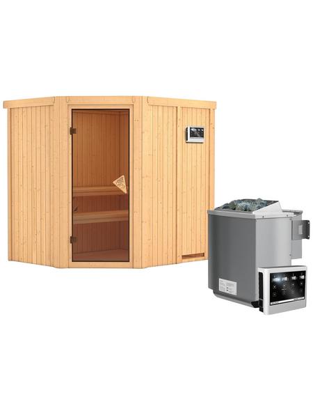 KARIBU Sauna »Maardu«, mit Ofen, externe Steuerung