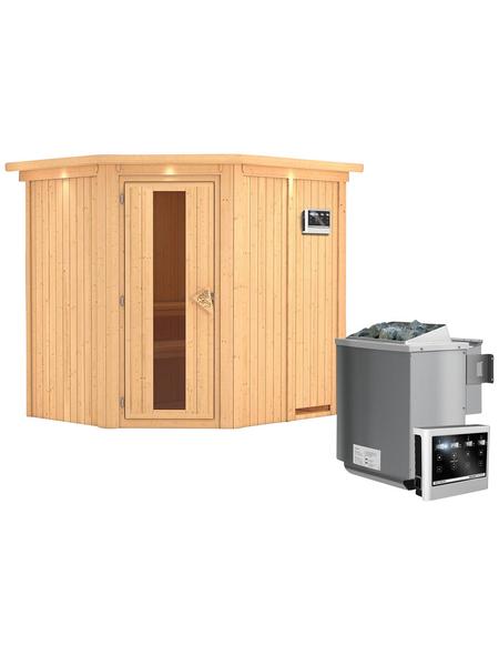 KARIBU Sauna »Maardu« mit Ofen, externe Steuerung