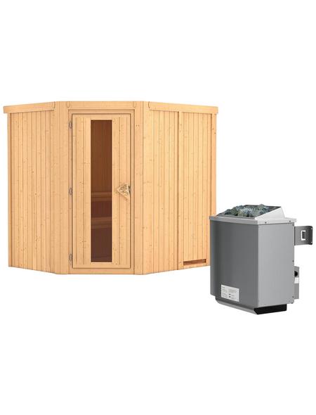 KARIBU Sauna »Maardu« mit Ofen, integrierte Steuerung