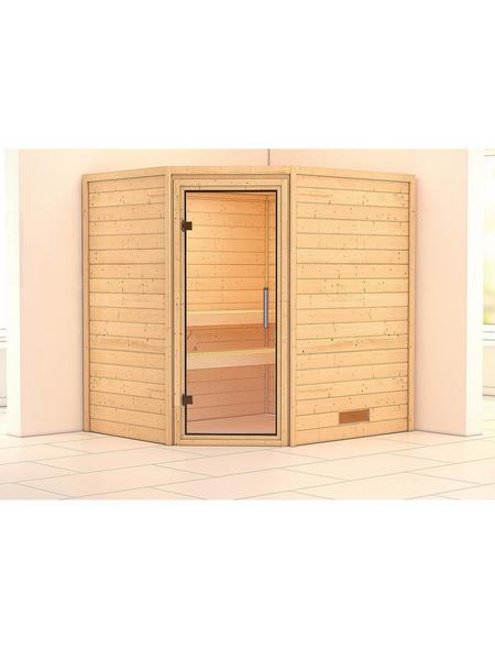WOODFEELING Sauna »Mia«, für 3 Personen ohne Ofen