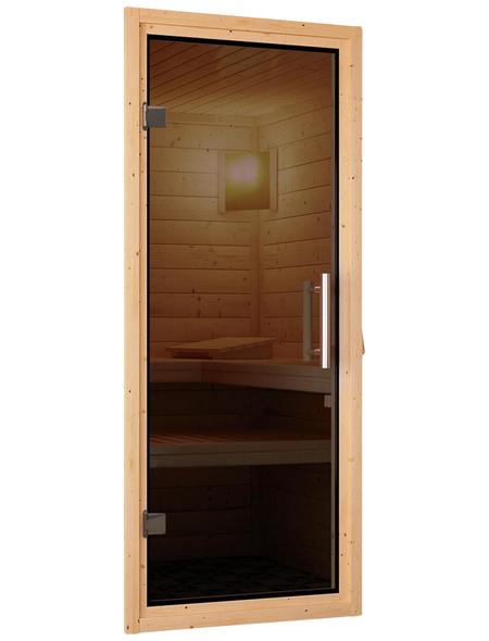 WOODFEELING Sauna »Mia«, mit Ofen, externe Steuerung