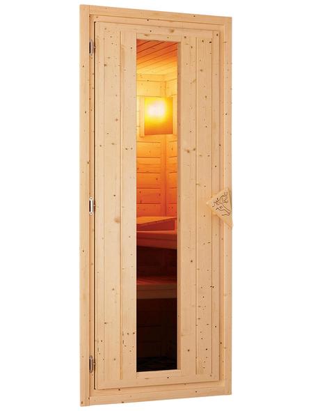 WOODFEELING Sauna »Mia« mit Ofen, integrierte Steuerung