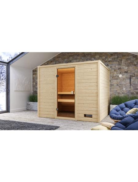 WOODFEELING Sauna »Midja«, für 4 Personen ohne Ofen