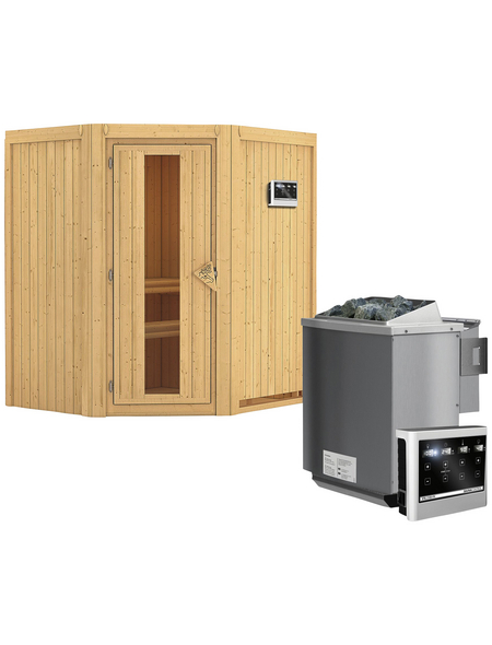 KARIBU Sauna »Narva« mit Ofen, externe Steuerung
