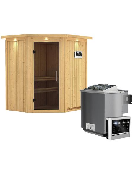 KARIBU Sauna »Narva«, mit Ofen, externe Steuerung