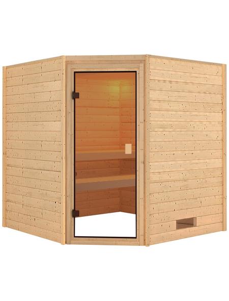 WOODFEELING Sauna »Nina«, BxTxH: 196 x 196 x 198 cm, ohne Saunaofen