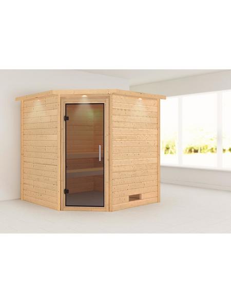 WOODFEELING Sauna »Nina«, BxTxH: 224 x 210 x 202 cm, ohne Saunaofen