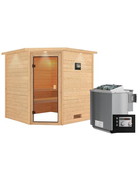 WOODFEELING Sauna »Nina«, mit Ofen, externe Steuerung