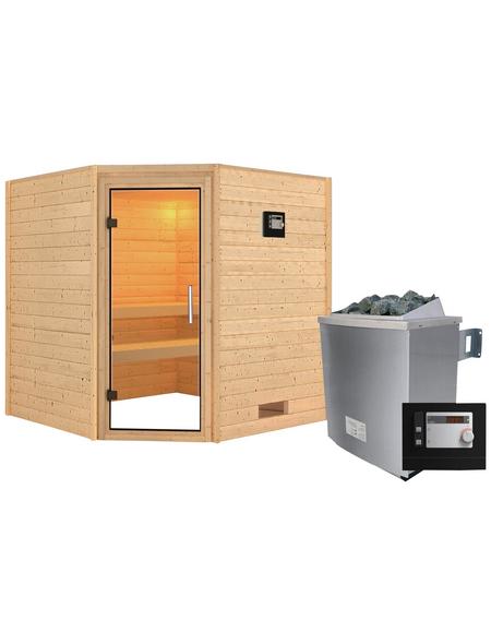 WOODFEELING Sauna »Nina« mit Ofen, externe Steuerung