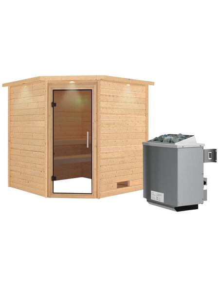 WOODFEELING Sauna »Nina«, mit Ofen, integrierte Steuerung