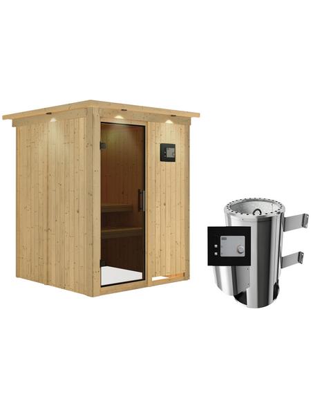KARIBU Sauna »Ogershof«, mit Ofen, externe Steuerung
