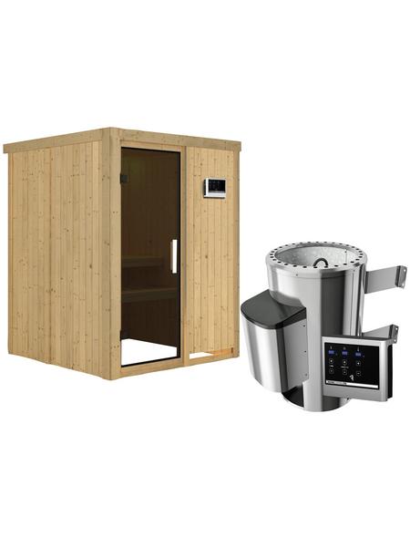KARIBU Sauna »Ogershof« mit Ofen, externe Steuerung