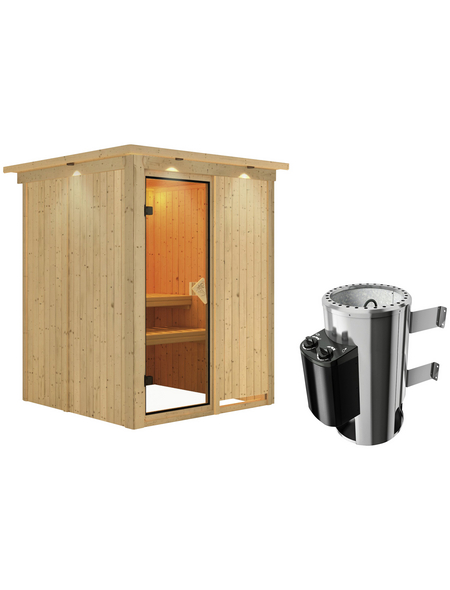 KARIBU Sauna »Ogershof«, mit Ofen, integrierte Steuerung