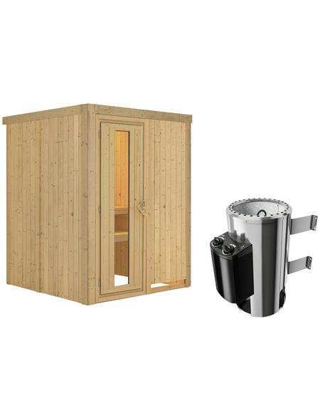 KARIBU Sauna »Ogershof« mit Ofen, integrierte Steuerung