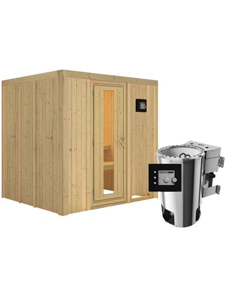 KARIBU Sauna »Olai«, mit Ofen, externe Steuerung