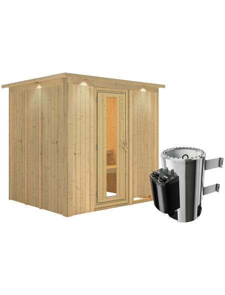 KARIBU Sauna »Olai«, mit Ofen, integrierte Steuerung