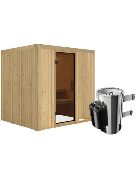 KARIBU Sauna »Olai« mit Ofen, integrierte Steuerung