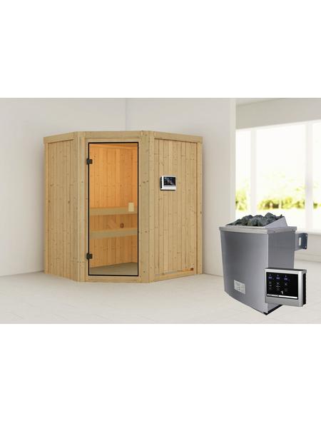 WOODFEELING Sauna »Otta« inkl. 9 kW Saunaofen mit externer Steuerung für 3 Personen