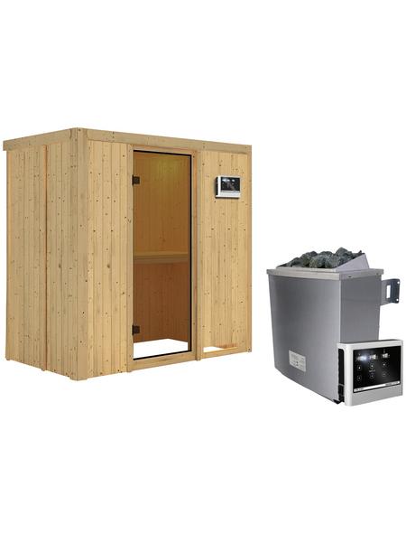 KARIBU Sauna »Pärnu«, inkl. 9 kW Saunaofen mit externer Steuerung für 2 Personen