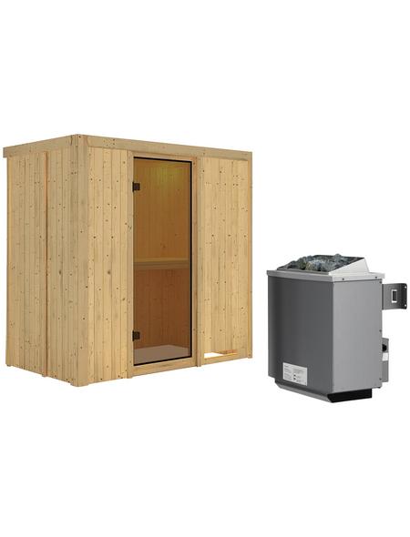 KARIBU Sauna »Pärnu«, inkl. 9 kW Saunaofen mit integrierter Steuerung für 2 Personen