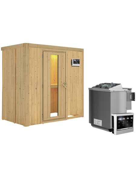 KARIBU Sauna »Pärnu«, mit Ofen, externe Steuerung