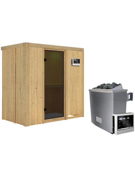 KARIBU Sauna »Pärnu« mit Ofen, externe Steuerung