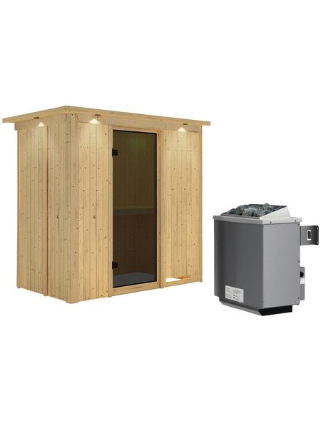 KARIBU Sauna »Pärnu«, mit Ofen, integrierte Steuerung