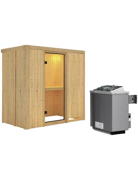 KARIBU Sauna »Pärnu« mit Ofen, integrierte Steuerung