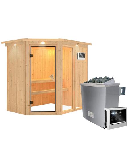KARIBU Sauna »Paide 1« mit Ofen, externe Steuerung