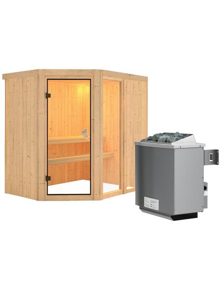 KARIBU Sauna »Paide 1 «, mit Ofen, integrierte Steuerung