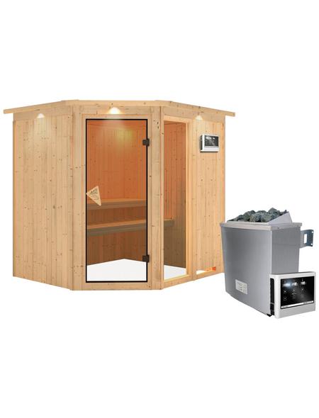 KARIBU Sauna »Paide 2«, mit Ofen, externe Steuerung