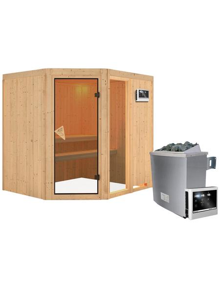 KARIBU Sauna »Paide 2« mit Ofen, externe Steuerung