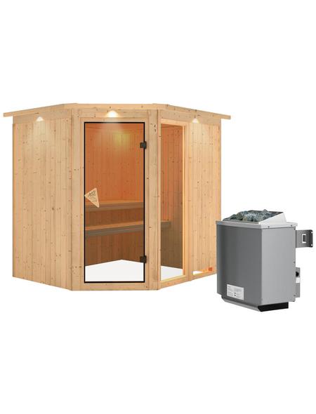 KARIBU Sauna »Paide 2«, mit Ofen, integrierte Steuerung