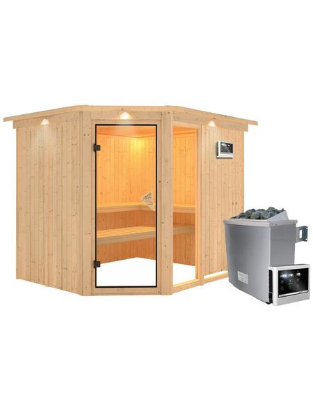 KARIBU Sauna »Paide 3«, mit Ofen, externe Steuerung