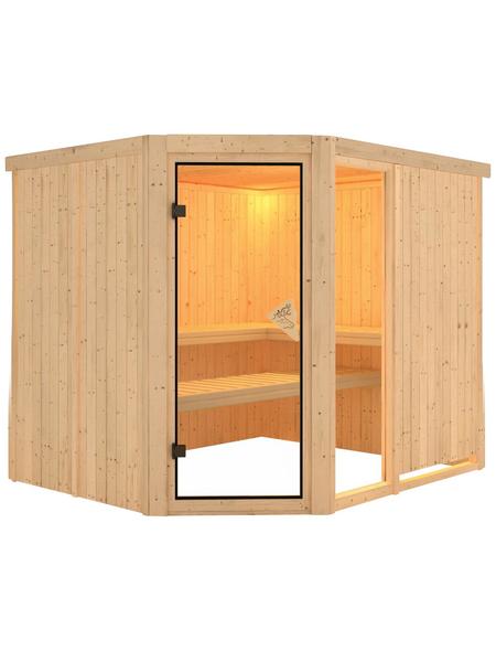 KARIBU Sauna »Paide 3«, ohne Ofen