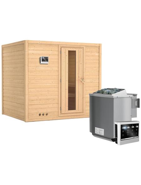 KARIBU Sauna »Paldiski«, mit Ofen, externe Steuerung