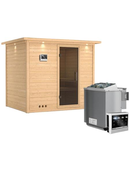 KARIBU Sauna »Paldiski« mit Ofen, externe Steuerung