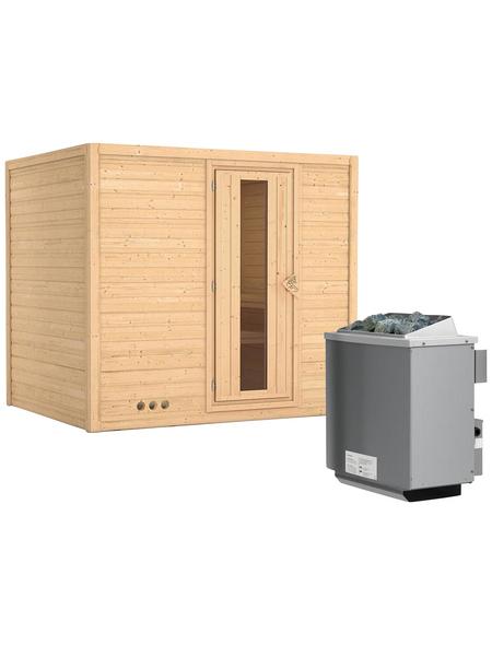 KARIBU Sauna »Paldiski« mit Ofen, integrierte Steuerung