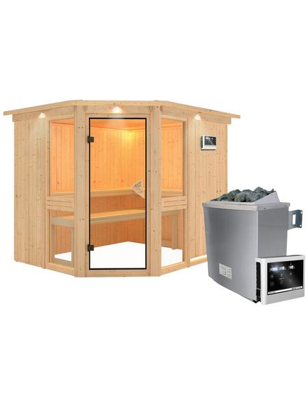 KARIBU Sauna »Pölva 3« mit Ofen, externe Steuerung