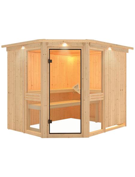 KARIBU Sauna »Pölva 3«, ohne Ofen