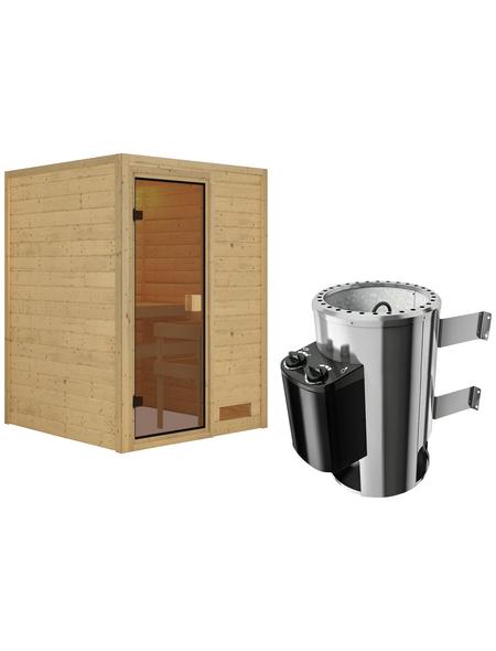 KARIBU Sauna »Prelly«, mit Ofen, integrierte Steuerung