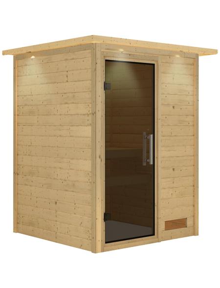 KARIBU Sauna »Prelly«, ohne Ofen