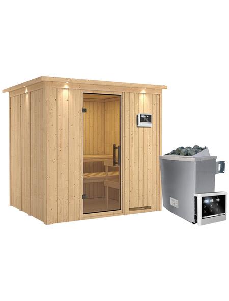 KARIBU Sauna »Rakvere«, inkl. 9 kW Saunaofen mit externer Steuerung für 3 Personen