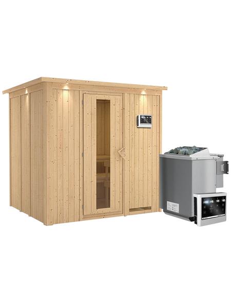 KARIBU Sauna »Rakvere«, mit Ofen, externe Steuerung