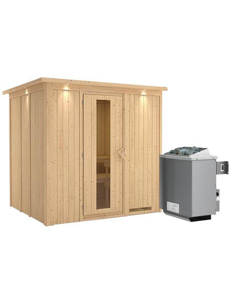 KARIBU Sauna »Rakvere« mit Ofen, integrierte Steuerung