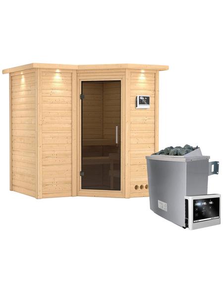 KARIBU Sauna »Riga 1« mit Ofen, externe Steuerung